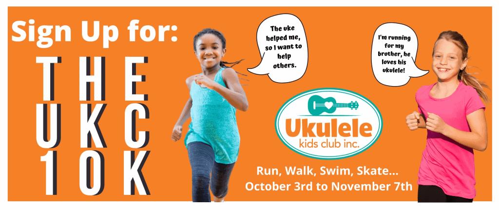 Orange banner - sign up for UKC 10k